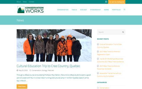Screenshot of Press Page conservationworksllc.com - Conservation Works - captured July 21, 2018