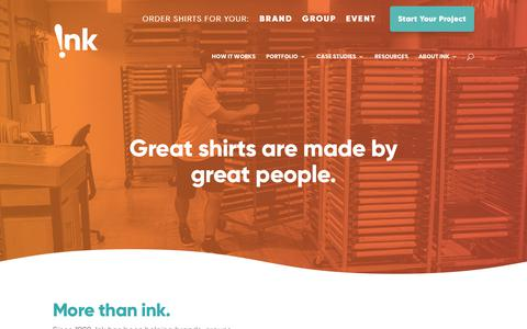 Screenshot of About Page inkcustomtees.com - About Us - Ink Custom Tees - captured Nov. 30, 2019