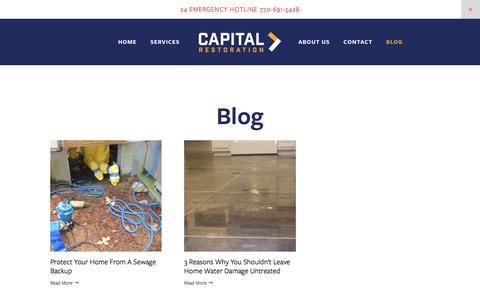 Screenshot of Blog capital-ga.com - Blog — Capital Restoration - captured Aug. 12, 2019