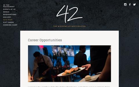 Screenshot of Team Page 42therestaurant.com - Our Team Ń 42 The Restaurant - captured Jan. 10, 2016