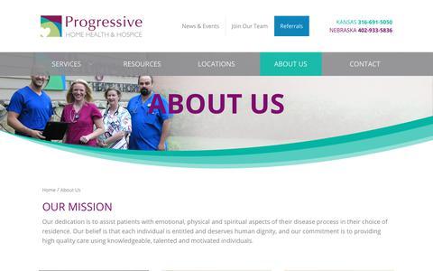 Screenshot of About Page progressivecare.com - About us   Progressive Home Health & Hospice - captured Sept. 30, 2018