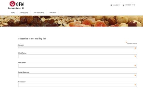 Screenshot of Signup Page qfn.nl - Newsletter signup | QFN - captured Oct. 27, 2014