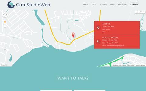 Screenshot of Contact Page gurustudioweb.it - Contact | GuruStudioWeb - captured Sept. 30, 2014