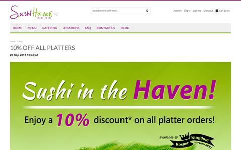 Screenshot of Blog sushihaven.co.uk - Sushi Haven |  Blog - captured Sept. 30, 2014