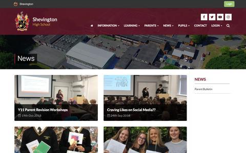 Screenshot of Press Page shevingtonhigh.org.uk - News   Shevington - captured Oct. 20, 2018