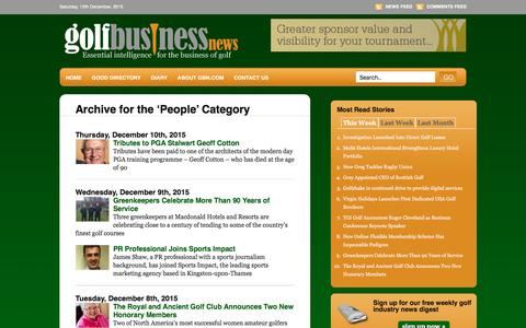 Screenshot of Team Page golfbusinessnews.com - People �  Golf Business News - captured Dec. 12, 2015