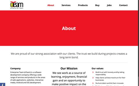 Screenshot of About Page eteamid.com - eTeam   Company   Enterprise Team (eTeam) Software Development & Outsourcing Services - captured Sept. 28, 2018