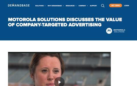 Screenshot of Case Studies Page demandbase.com - Jess Simpson of Motorola Solutions discusses the value of Demandbase Company-Targeted Advertising | Account-Based Marketing – Demandbase - captured Nov. 6, 2019