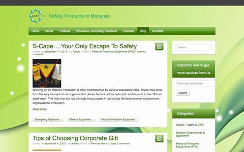 Screenshot of Blog safelink.com.my - Blog | - captured Oct. 4, 2014