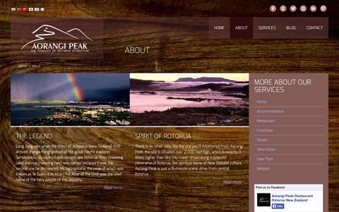 Screenshot of About Page aorangipeak.co.nz - About - captured Sept. 30, 2014