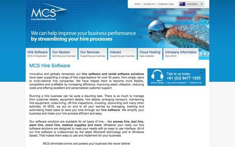 Screenshot of Home Page mcsanz.com.au - Hire Software and Rental Software | mcsanz.com.au - captured April 5, 2016