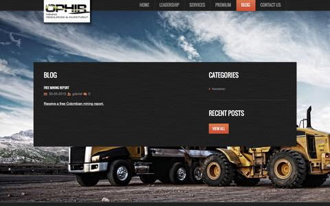 Screenshot of Blog ophirmri.com - OphirMRI   OPHIR Mining Resources & Investment - captured Feb. 16, 2016