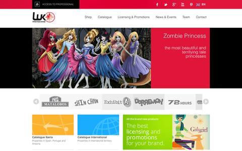 Screenshot of Home Page luk.es - LUK Internacional - captured Oct. 1, 2014