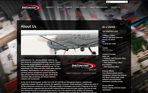 Screenshot of About Page aerocomputers.com - About AeroComputers -- Contact Information, Company Background, and Employment Opportunities - captured Oct. 4, 2014