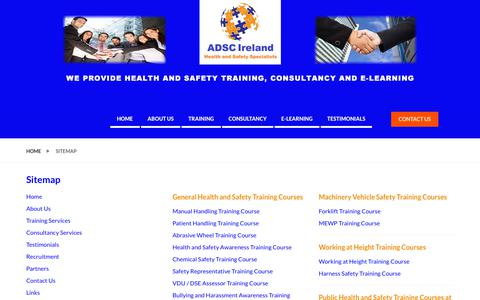 Screenshot of Site Map Page adsafetyconsultants.com - Sitemap   Andrew Doyle Safety Consultants Ltd - captured Oct. 3, 2018
