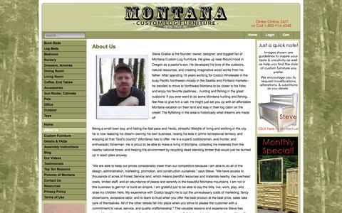Screenshot of About Page mtlogfurniture.net - Montana Custom Log Furniture - About Us - Montana Custom Log Furniture - captured Oct. 26, 2014