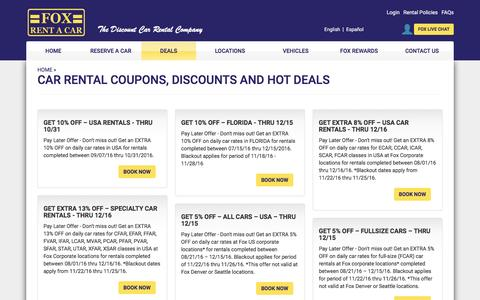 Car Rental Coupons, Discounts and Rental Deals - Fox Rent A Car