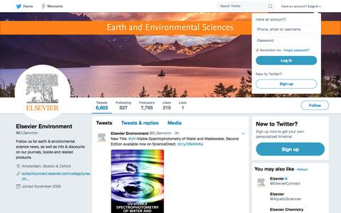 Elsevier Environment (@ELSenviron) | Twitter