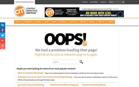 Oops (502) - Content Marketing Institute