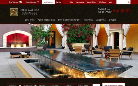 Screenshot of Press Page hotelvalencia-santanarow.com - Awards and Press for Hotel Valencia - captured March 9, 2016