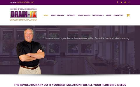 Screenshot of Home Page drain-fx.com - DRAIN-FX | Home Drain Solutions - captured Jan. 21, 2015