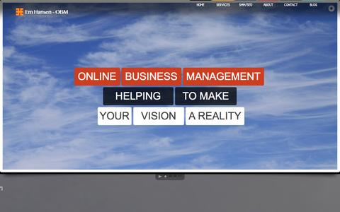 Screenshot of Home Page em-hansen.com - Em Hansen - Online Business Manager - captured Oct. 1, 2014