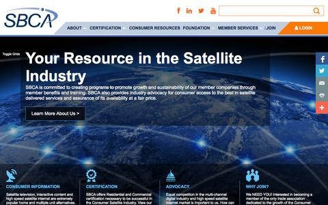 Screenshot of Home Page sbca.org - Welcome to Satellite and Broadcast Communications Association | Satellite and Broadcast Communications Association - captured Jan. 28, 2015