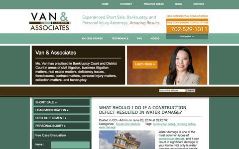 Screenshot of Blog thenvfirm.com - Blog - Nevada Short Sale, Bankruptcy, and Personal Injury Attorneys - captured Oct. 1, 2014
