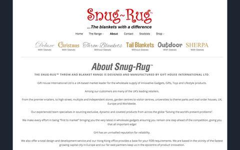 Screenshot of About Page snug-rug.co.uk - About Snug-Rug™ ...the Throw and Blanket Range - Snug-Rug™ - captured Oct. 22, 2017
