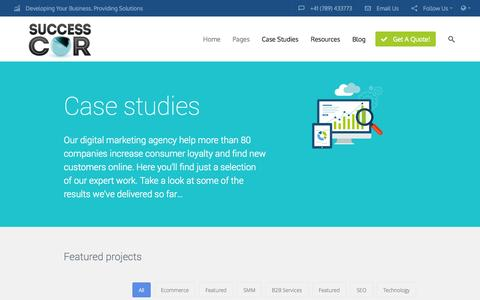 Screenshot of Case Studies Page successcor.com - Section: Case Studies | Successcor - captured Oct. 29, 2014