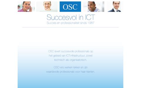 Screenshot of Home Page osc.nl - Intro - captured Oct. 9, 2014