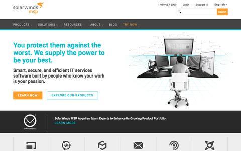 SolarWinds MSP: Leading IT Service Management (ITSM) Platform