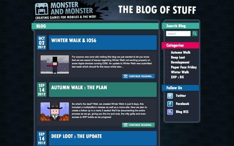 Screenshot of Blog monsterandmonster.com - Blog – Monster and Monster - captured Oct. 26, 2014