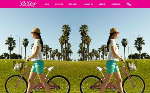 Screenshot of Home Page bebopclothing.com - Be Bop Clothing - captured Oct. 6, 2014