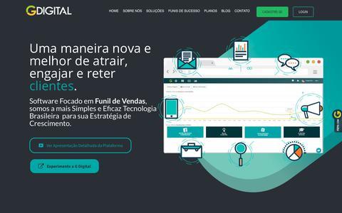 Screenshot of Home Page gdigital.com.br - G Digital – Seu Funil de Vendas Poderoso - captured Nov. 8, 2018