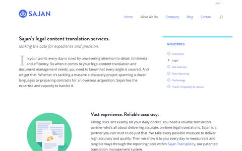 Screenshot of Terms Page sajan.com - Legal | Sajan - captured Oct. 28, 2014