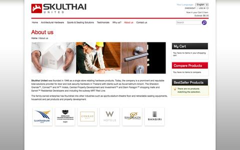 Screenshot of About Page skulthai.com - About us - captured Oct. 27, 2014