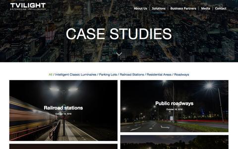 Screenshot of Case Studies Page tvilight.com - Case Studies – Tvilight – Empowering Intelligence - captured Dec. 2, 2016