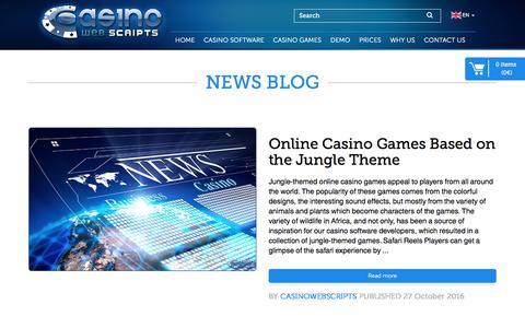 Screenshot of Blog casinowebscripts.com - CasinoWebScripts Blog : Casino Software News, Updates and Guides - captured Nov. 17, 2016