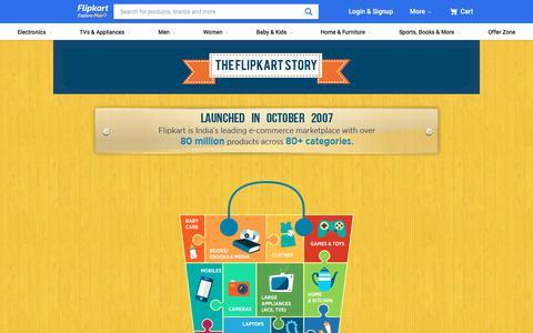 Screenshot of About Page flipkart.com - About Us - captured Oct. 31, 2019