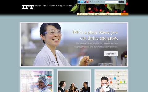 Screenshot of Jobs Page iff.com - International Flavors & Fragrances > Careers - captured Nov. 17, 2015