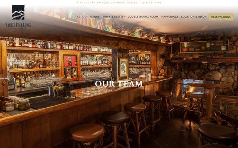 Screenshot of Team Page saddlepeaklodge.com - Our Team | Saddle Peak Lodge - captured July 26, 2018