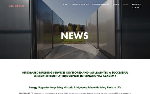 Screenshot of Press Page ibsgreen.com - News — IBS GreenInfo - IBS Green - captured Oct. 15, 2017