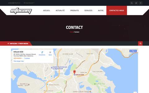 Screenshot of Contact Page infocom.nc - Contact - INFOCOM NC - captured Nov. 5, 2017