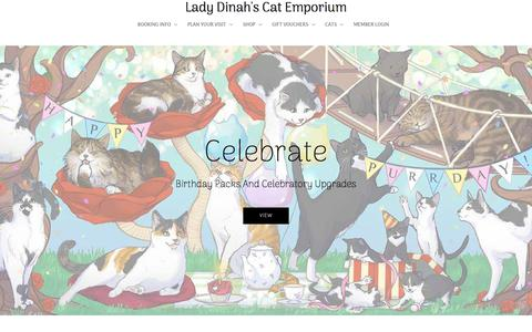 Screenshot of Home Page ladydinahs.com - Lady Dinah's – Lady Dinah's Cat Emporium - captured Sept. 22, 2018