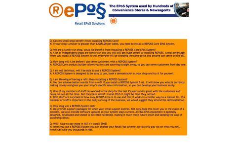 Screenshot of FAQ Page reposs.com - FAQs - REPOSS - captured Oct. 7, 2014