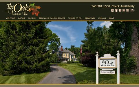 Screenshot of Contact Page Maps & Directions Page theoaksvictorianinn.com - Bed and Breakfast Alternative to Hotels in Christiansburg VA - captured Nov. 1, 2014
