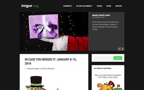Screenshot of Blog imgur.com - The Imgur Blog - captured Jan. 17, 2016