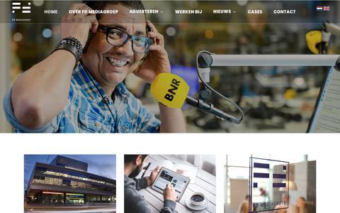 Screenshot of Home Page fdmg.nl - Home - FDMG - captured Oct. 9, 2018