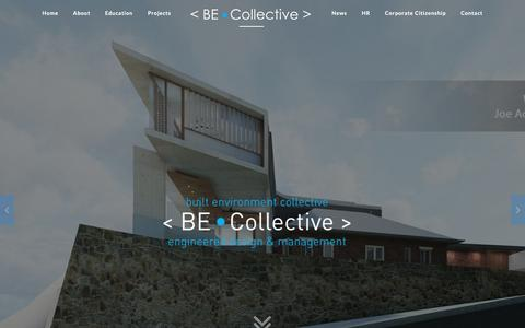 Screenshot of Home Page becollective.net - Built Environment Collective - captured Nov. 23, 2016